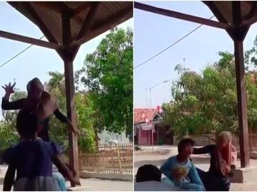 Jadi Viral Anak Ketiban Badan Emak karena Heboh Joget TikTok di Sosmed